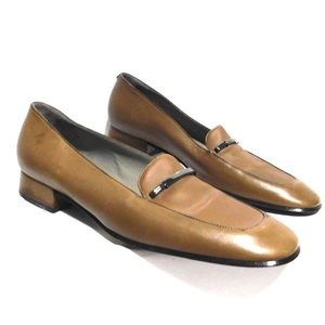 NEW Bally tan leather Loafers